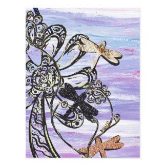 Dragonfly Sky Postcard