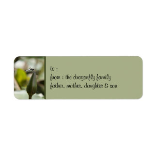 Dragonfly small Gift Tag Label