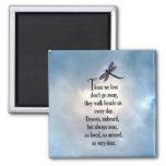 "Dragonfly ""So Loved"" Poem 2 Inch Square Magnet"