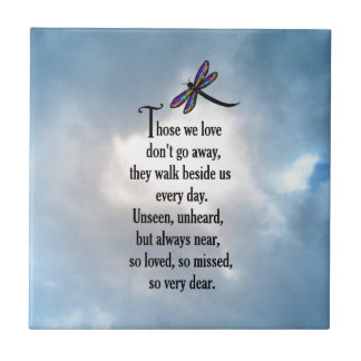 "Dragonfly ""So Loved"" Poem Ceramic Tile"