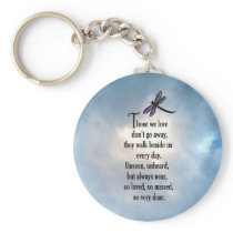 "Dragonfly ""So Loved"" Poem Keychain"