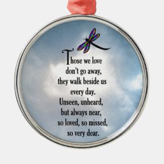 "Dragonfly ""So Loved"" Poem Metal Ornament"