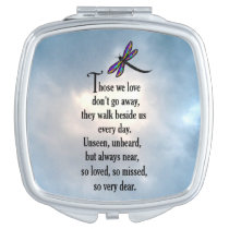 """Dragonfly """"So Loved"""" Poem Mirror For Makeup"""