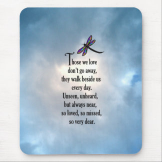 """Dragonfly """"So Loved"""" Poem Mouse Pad"""