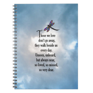 """Dragonfly """"So Loved"""" Poem Note Books"""