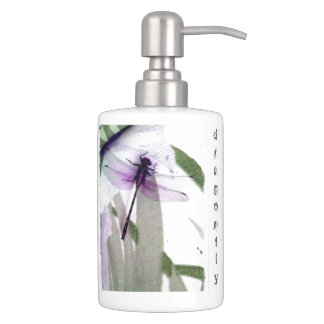 Dragonfly Soap Dispenser And Toothbrush Holder