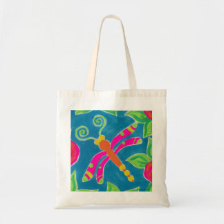 Dragonfly Spring Fling Tote Canvas Beach Bag