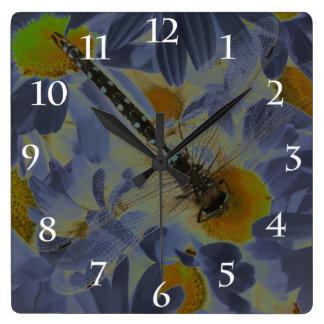 Dragonfly Square Wall Clocks