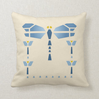 Dragonfly Stencil Throw Pillow