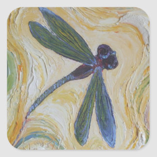 Dragonfly Square Sticker