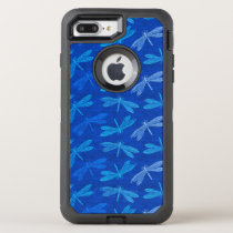 Dragonfly Summer Blues Nature Lover OtterBox Defender iPhone 7 Plus Case
