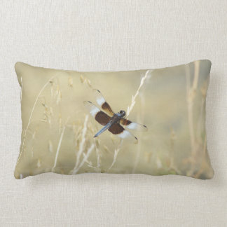 Dragonfly Summer Insect Winged Bug Beige Lumbar Pillow