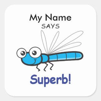 Dragonfly - Superb! Square Sticker