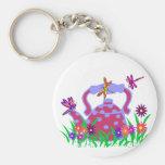 Dragonfly teapot key chain