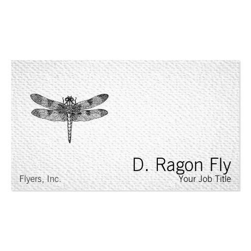 Dragonfly Texture Look Double-Sided Standard Business Cards (Pack Of 100)