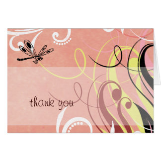 Dragonfly Thank You Greeting Card