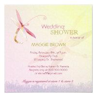 Dragonfly Theme Unique Bridal Shower Invitation