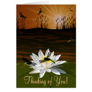 Dragonfly Thinking of You Card With Poem