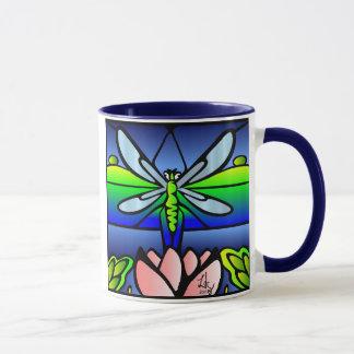 Dragonfly Tiffany Style Mug