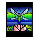 Dragonfly Tiffany Style Postcard