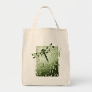 Dragonfly Tote Bag (Sage Green)