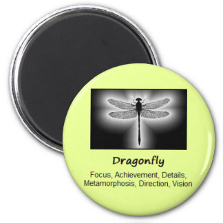 Dragonfly Totem Animal Spirit Meaning 2 Inch Round Magnet