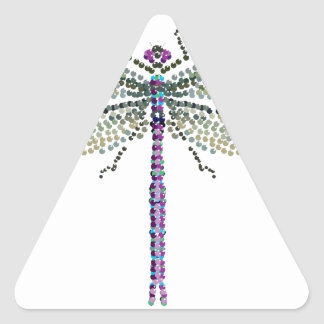 dragonfly Transparant Triangle Sticker