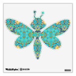 dragonfly wall decal with kaleidoscope pattern