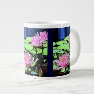Dragonfly Waterlilies Giant Coffee Mug