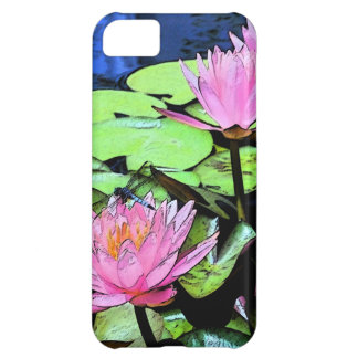 Dragonfly Waterlily Case For iPhone 5C