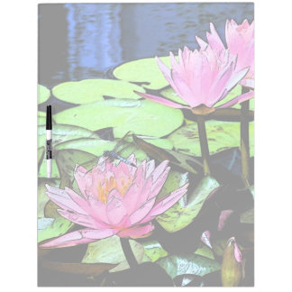 Dragonfly Waterlily Dry Erase Board