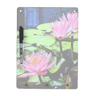 Dragonfly Waterlily Dry-Erase Board