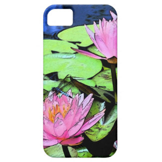 Dragonfly Waterlily iphone 5 Case