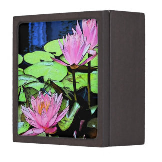 Dragonfly Waterlily Jewelry Box
