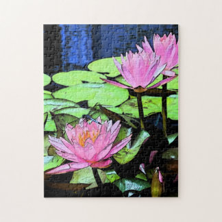 Dragonfly Waterlily Jigsaw Puzzle