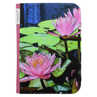 Dragonfly Waterlily Kindle Cover