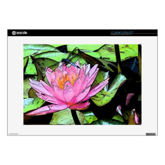 Dragonfly Waterlily Laptop Decal
