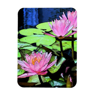 Dragonfly Waterlily Rectangular Photo Magnet