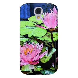 Dragonfly Waterlily sumi-e Galaxy S4 Cover