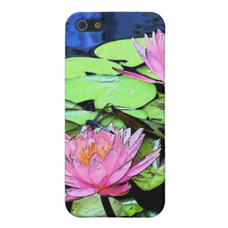 Dragonfly Waterlily sumi-e Case For iPhone SE/5/5s