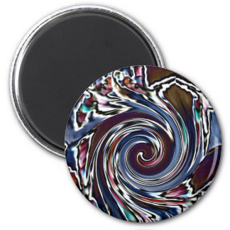 Dragonfly Wave abstract nature 2 Inch Round Magnet