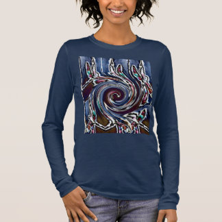 Dragonfly Wave Abstract Nature Long Sleeve T-Shirt