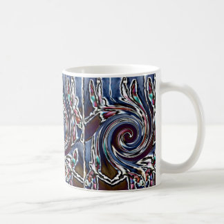 Dragonfly Wave Abstract Nature Classic White Coffee Mug