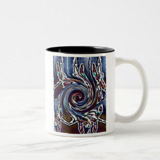 Dragonfly Wave Abstract Nature Two-Tone Coffee Mug