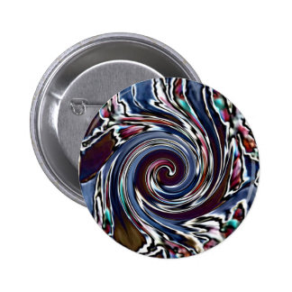 Dragonfly Wave Abstract Nature Pinback Button