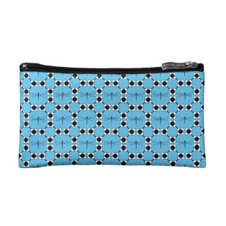 Dragonfly - White Small Cosmetic Bag
