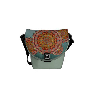 Dragonfly Wing Mandala Messenger Bag
