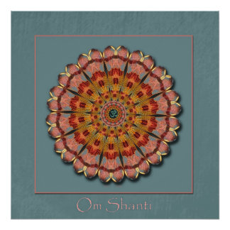 Dragonfly Wing Om Shanti Poster Print