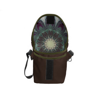 Dragonfly Wings Clock Courier Bag