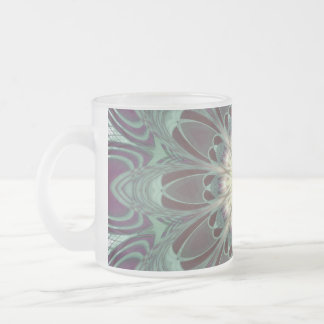 Dragonfly Wings Mandala 10 Oz Frosted Glass Coffee Mug